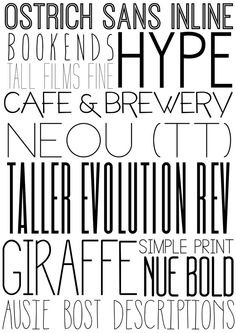 Beautifu sans serif fonts