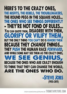 word of wisdom, quotes, crazi, stevejob, thought, inspir, steve jobs, thing, live
