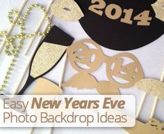 Celebrate the #NewYear With These Fun and Easy New Years Eve #Photo #Backdrop Ideas