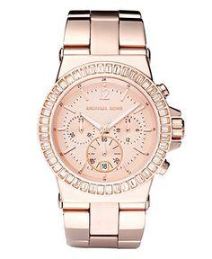 Beautiful Pink Gold Watch- Michael Kors