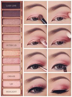 Naked 3 palette. Gorgeous look, although I could never pull it off, since pink eyeshadow makes me look dead.