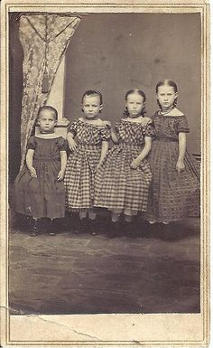 Four Little Sisters - CDV by ilgunmkr, via Flickr