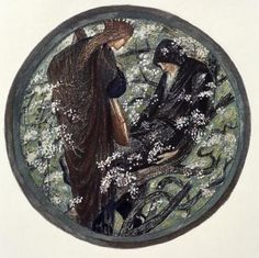 WITCHES TREE, NIMUE BEGUILING MERLIN WITH ENCHANTMENT Sir Edward Burne-Jones