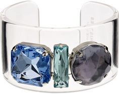 Whistles Wide Gem Clear Resin Cuff