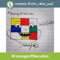 Congrats to @cutie_cakes_6661 - the #revengeofthecubes Daily Doodle Challenge winner of 500 SB for 9.18.14!