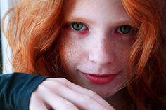 love the eyes. red head. freckles. deviantART