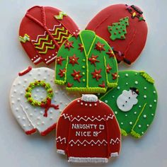 ...And then there are always these adorable Ugly Christmas Sweater Cookies