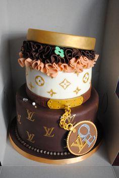 Louis Vuitton Hatbox Cake