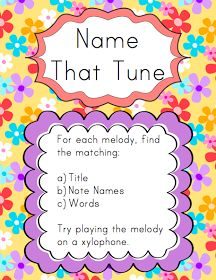 Elementary Music Resources: Centers: Name That Tune