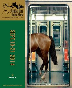 Love this poster for the Central Park Horse Show.
