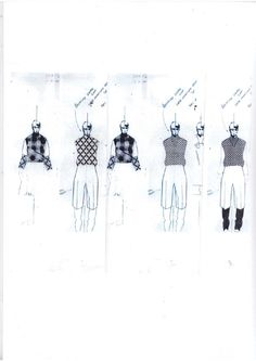 Fashion Sketchbook - fashion design sketches; creative process; fashion portfolio // Andrew Voss