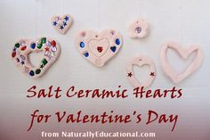 Salt Ceramic Heart Ornaments for Valentine's Day #valentines