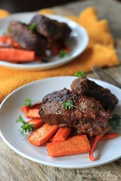 Balsamic Braised Beef Short Ribs |Paleo Recipes