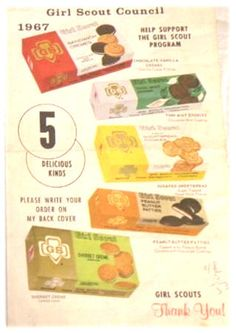 Girl Scout Cookie Sales 1967