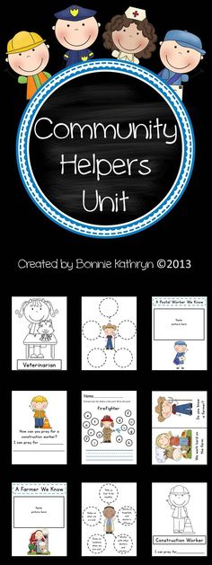 Community Helpers Activity Pack Unit Includes: Cute!