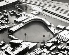 Crosley Field during the 1937 flood, photo taken circa Jan. 25, 1937.
