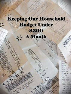 Grocery & Household Budget. I better read this because I'm struggling to keep just my grocery bill under that!!