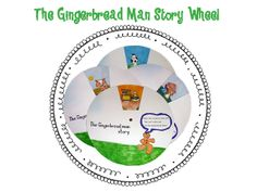 Story Wheel - The Gingerbread Man Story! Part of my Gingerbread Man unit for pre-k and kindergarten.