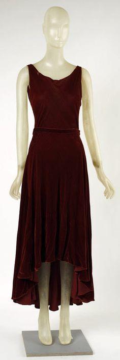 Vionnet 1929 evening dress