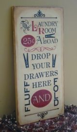 Fun Laundry Room Sign #laundry