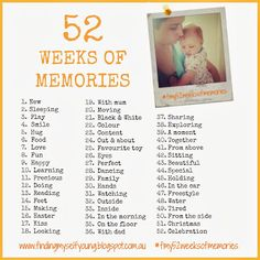 2014 Photography challenge - 52 weeks of memories. Play along and share your photos on Instagram, Facebook or my blog :)