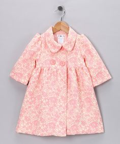 Pink Floral Coat - Toddler & Girls