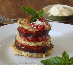 Grilled Eggplant Quinoa Stacks Craving Something Healthy