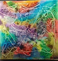 Painting with glue and salt