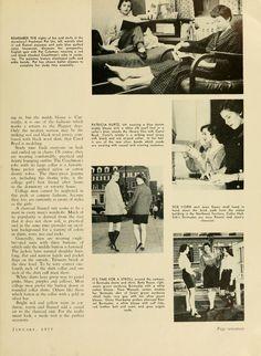 "The Ohio Alumnus, January 1955. ""Campus Fads and Fashions."" :: Ohio University Archives"