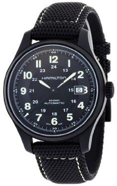 Hamilton Men's Titanium Khaki Field Black Dial Watch