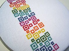 modern cross stitch by wallwork. So pretty. Would love this for the craft room.