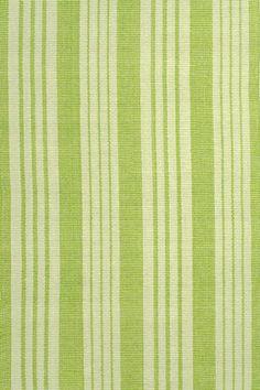 Birmingham Green Woven Cotton Rug