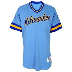 You won't find a #Brewers Turn Back the Clock jersey like this anywhere else! Look at that powder blue...