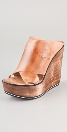 Costume National Wedge Clogs. I want, love these!