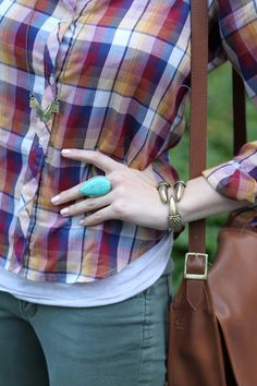 I love the turquoise ring!