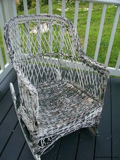 How to repair flaking paint on wicker furniture