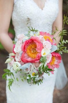 Pink peony bouquet /