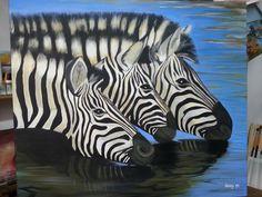 Cuadros para pintar on pinterest african art elephant - Cuadros de cebras ...