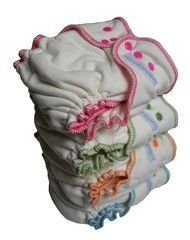 """#7 Sustainablebabyish bamboo fitteds are also known as the """"Magic Diaper"""".  In the newborn phase this is my must-have nighttime diaper. #clothdiapers #nopins"""
