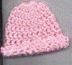 Preemie snuggles cap crochet pattern.