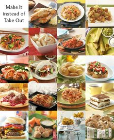 Takeout Recipes at Home ~ Says: Make restaurant-quality meals at home with easy Chinese, Mexican, Italian, and American recipes. You'll save money (and eat healthier!) with these make-at-home options.