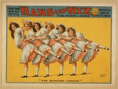 Theater poster for a burlesque show from the 1890s
