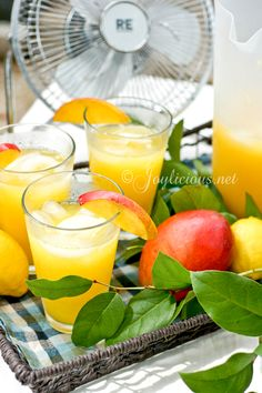Southern Style Mango Lemonade via joylicious #chilled #summer #drink