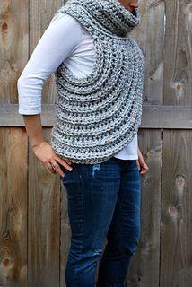 Katniss Cowl Vest - Hunger Games #crochet