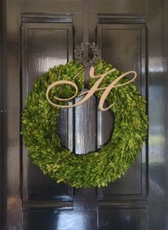 Wreath + Monogram