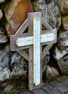 Reclaimed wood decorative cross.