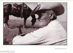 Vintage Print Art Cowboy Texas Range Beer Horse Hat Western Portrait 19 | eBay