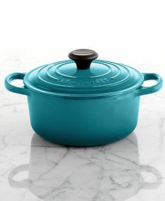Le Creuset Signature Enameled Cast Iron 2 Qt. Round French Oven.  Perfect size for one pot dinners for 2.