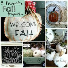 Fall Decorating Projects at www.diybeautify.com 5 of my Favorite, easy-to-do projects with tutorials! Visit DIY beautify for the details.