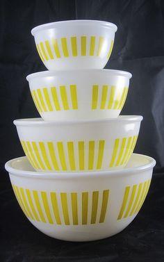 Yellow Hazel Atlas Mixing Bowls